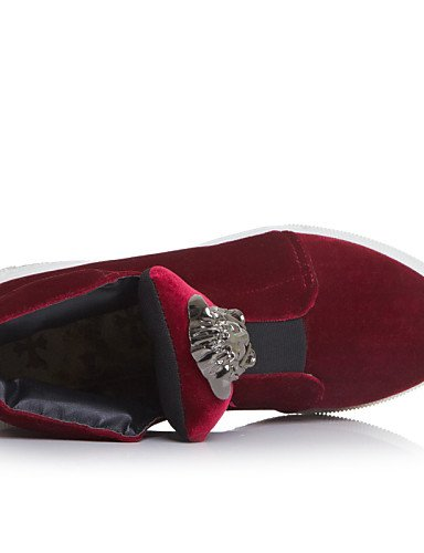 Casual Plataforma Red La Moda Uk4 Cn36 Zapatos Eu36 Uk7 Rojo Terciopelo A Black Botas De Mujer Negro Cn41 Xzz us6 Gris Eu40 us9 Punta Redonda qvZtqw8