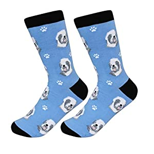 Old English Sheepdog Socks - Soft Combed Cotton - One Size Fits Most 49