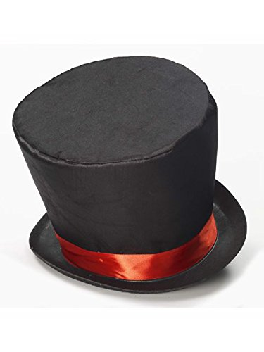 Mad Hatter Top Hat Costume Accessory (Mad T Party Band Costumes)