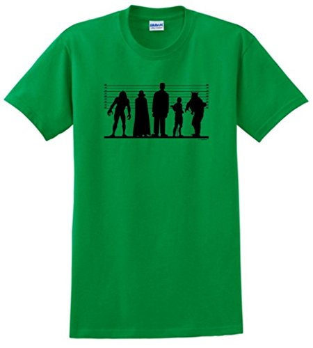 Zombie Clothing Line - Classic Monster Line Up T-Shirt Large