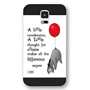 Customized Black Frosted Disney Winnie the Pooh Eeyore Samsung Galaxy S5 Case