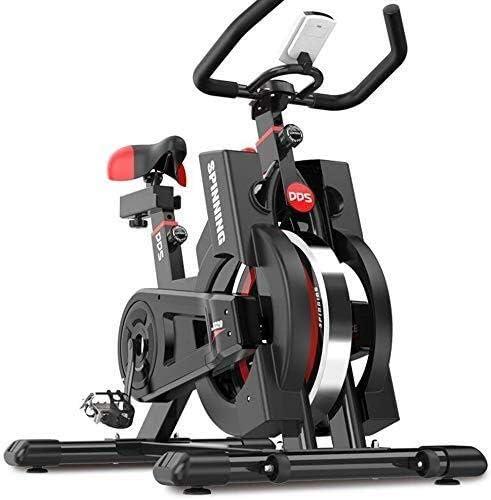 ZT-TTHG 屋内エアロバイク屋内サイクリングエアロバイク、心拍数、アジャスタブルシートとハンドルバー、タブレットホルダーとベルトドライブ、安定した静かでホームカーディオワークアウトのための滑らかな