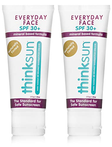 Thinksun Everyday Face Sunscreen, Naturally Tinted (2 ounce) (2 pack)