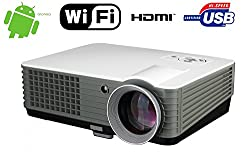 Wireless Smart Projector Android Home Theater 4000 Lumen Android Wifi 1080p Full Hd Supported Home Cinema Multimedia Up To 150 Image Size Usb Vga Hdmi Led Video Movie Projector