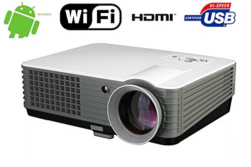 Wireless Smart Projector Android Home Theater 4000 Lumen Android WIFI 1080P FULL HD Supported Home Cinema Multimedia up to 150