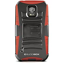 Galaxy S5 Active Case, BUDDIBOX [HSeries] Heavy Duty Swivel Belt Clip Holster with Kickstand Maximal Protection Case for Samsung Galaxy S5 Active, (Red)