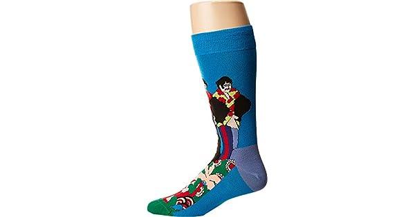 Happy Socks Men/'s Beatles Pepperland Sock Blue//Green Men/'s Shoe Size 10-13