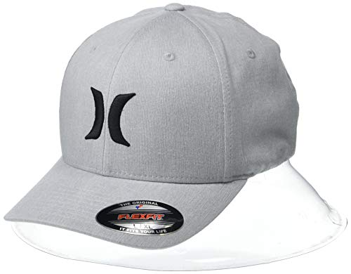 Hurley Men's Black Textures Hat, Cool Grey Heather, L-XL ()