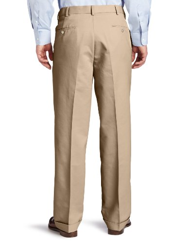 Dockers Men's Comfort Khaki D4 Relaxed Fit Pleated-Cuffed Pant,  Khaki,  38x32