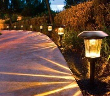 "Smartyard Solar LED 13.8""H Pathway Lights 8-pack - 6 lumens"