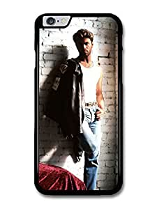 """AMAF ? Accessories George Michael Posing on a Wall with Leather Jacket Portrait case for iPhone 6 Plus (5.5"""")"""