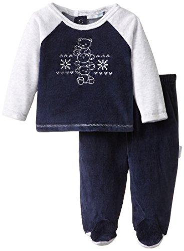Vitamins Baby Baby-Boys Snowflake Bear Velour 2 Piece Pant Set, Navy, 6 Months