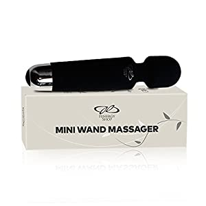 FenergyShop Personal Wand, Cordless & Waterproof | 10 Vibration Patterns & 8 Speeds | Therapeutic Back, Neck, Sport Massage | Mini Wireless | 1 Year Guarantee