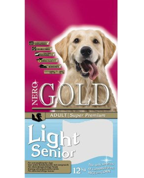 Pienso para perros NeroGold Light/Senior 12 kg.