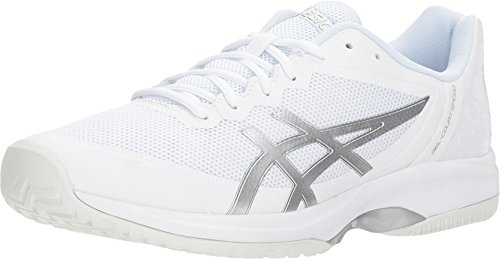 ASICS Men's Gel-Court Speed Tennis Shoes, White/Silver, Size 10 (Best Shoes For Pickleball)