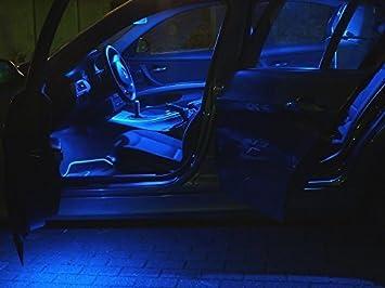 5x led blu illuminazione interni h lampadine posteriore: amazon.it