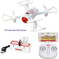 Skytoy Rc Quadcopter Drone HD Camera 720P 2.4Ghz Remote Control Altitude Hold FPV Drone White