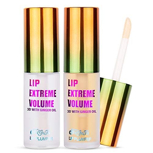 Glossiva Lip Plumping Balm - Lip Enhancer - Clear Lip Gloss - Extreme Results - For Fuller Lips - Moisturizes
