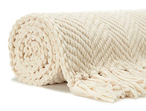Bedroom Chanasya Textured Knitted Super Soft Throw Blanket With Tassels – Warm Fluffy Cozy Plush Knit – for Couch Bed Sofa… pergolas