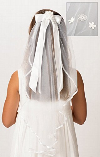 - Roman Polyester and Plastic Charlotte Veil First Communion Giftware Baby Hair Accessory,White,25 Inches Long