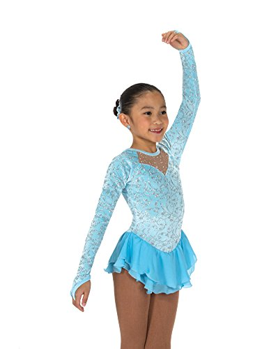 - Jerry Skating World Jerry's Ice Skating Dress - 188 Classique Dress (Crystal Blue, Size 12-14)