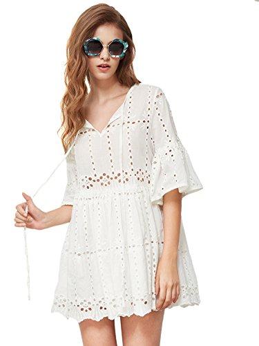 mini dress bell sleeves - 9