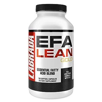 Labrada Nutrition EFA Lean Gold Essential Fatty Acid Softgel Capsules, 180-Count Bottle