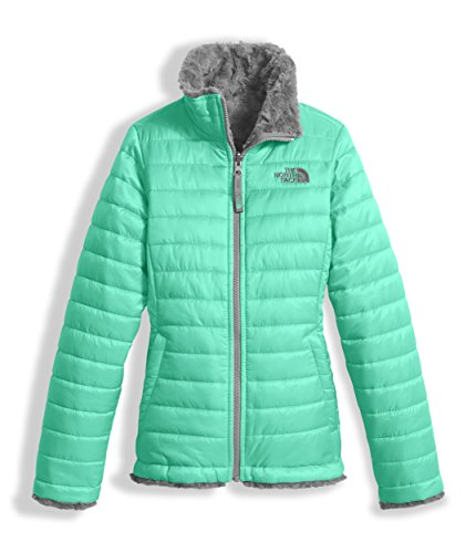 The North Face Girls Reversible Mossbud Swirl Jacket Bermuda Green (Medium) by The North Face