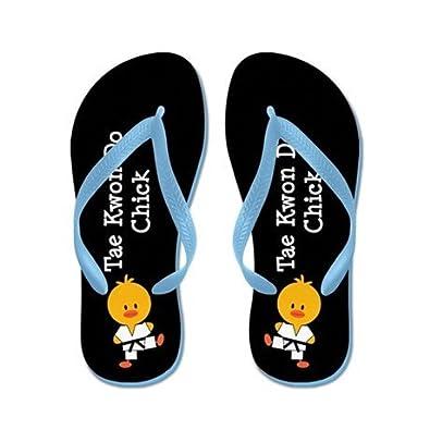 Lplpol Tae Kwon Do Chick Flip Flops for Kids Adult Beach Sandals Pool Shoes Party Slippers Black Pink Blue Belt for Chosen