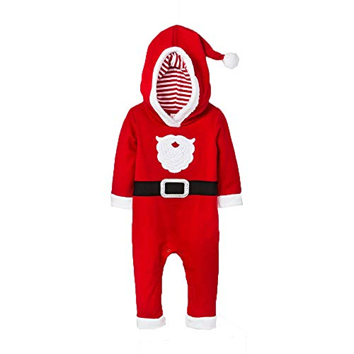 Cat & Jack Baby Boys' Santa Suit Romper (NB) Red]()