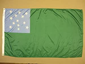 Montaña verde niños para interiores al aire libre teñida de nailon histórica bandera ojales 3'x 5'