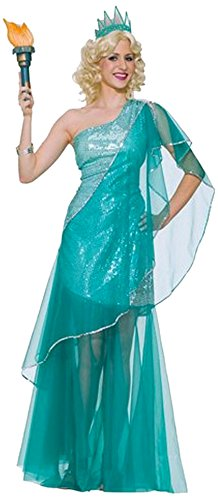 Forum Novelties Women's Miss Liberty Costume, Green, Standard - St Patrick Costume Party City