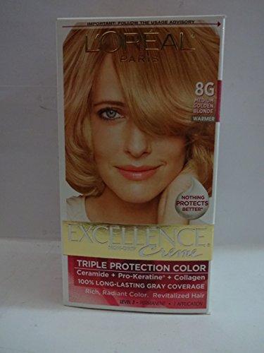 L'Oreal Paris Excellence Creme Triple Protection Color 8G Medium Golden Blonde/Warmer -  476684