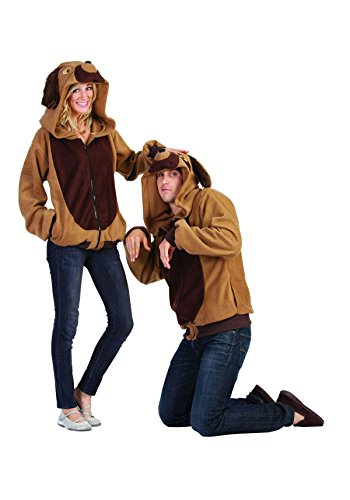 RG Costumes Men's Devin The Dog Hoodie, Brown/Tan Small