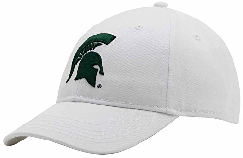 NCAA Michigan State Spartans Adult Unisex Structured Epic Cap, Adjustable, White