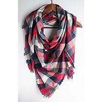 Buffalo Plaid Blanket Scarf For Woman Christmas Gift