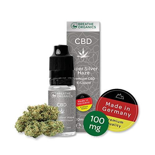 Premium CBD Liquid Super Silver Haze von Breathe Organics® | E Liquid ohne Nikotin mit 100 mg CBD | 100% natürliche…