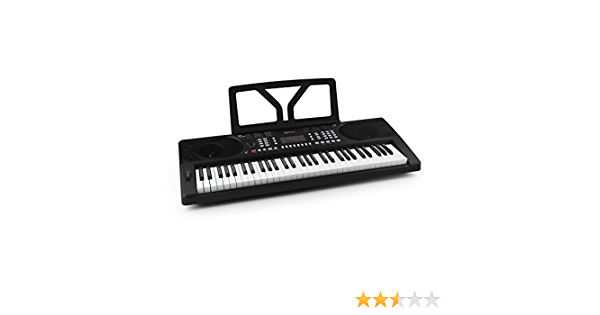 Schubert Etude 300 - teclado, piano eléctrico, 61 teclas, sensibilidad a la rapidez, 300 voces, 300 ritmos, 50 pistas demo, acordes, función de ...