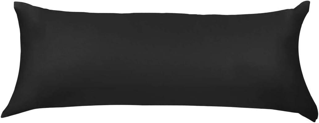 PiccoCasa Body Pillow Cover Pillowcase, 300 Thread Count, 100% Long Staple Combed Cotton, Body Pillow Case with Zipper Closure, Body(20