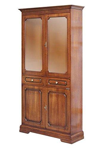 Mobile vetrina in stile classico con ante vetrina e cassetti per ...