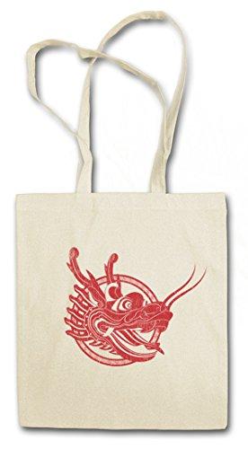 CHINESE TATTOO DRAGON II Hipster Shopping Cotton Bag Cestas Bolsos Bolsas de la compra reutilizables - chino cinese Asia Flash Oldschool Rockabilly