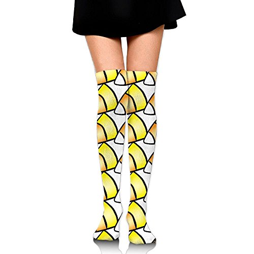 Halloween Patterns Corn Candy Casual Crew Top Socks,Tube Thigh-High Nursing Compression Long Socks,3D Printed Sports For -