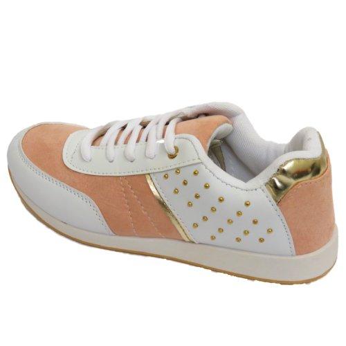 Mädchen Laufen Sport Gym Casual Jogging Weiß Damen Sneaker Schuhe 7Bwd4aqx7