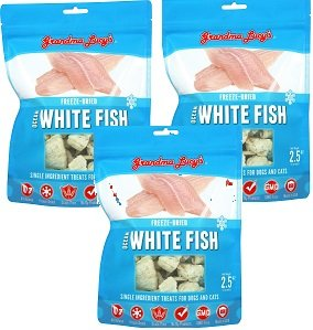 (3 Pack) Grandma Lucy's Freeze Dried Whitefish Pet Treat, 2.4 Ounces each by Grandma Lucy's