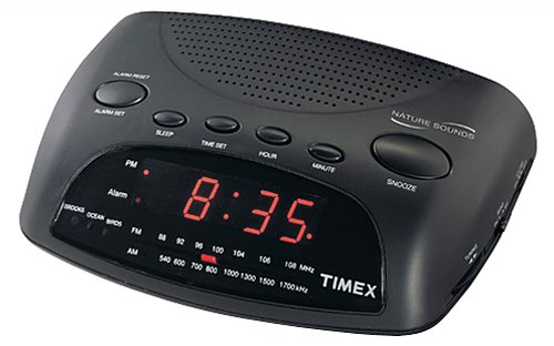 Nature sounds radio clock with line in and timex owners manual.