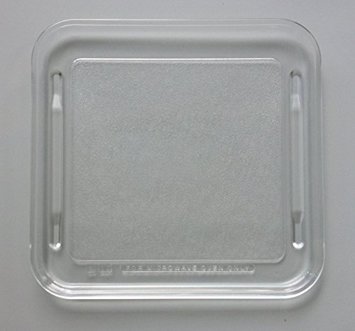 Pre Owned Microwave Oven Square Glass Plate / Tray 10 5/8