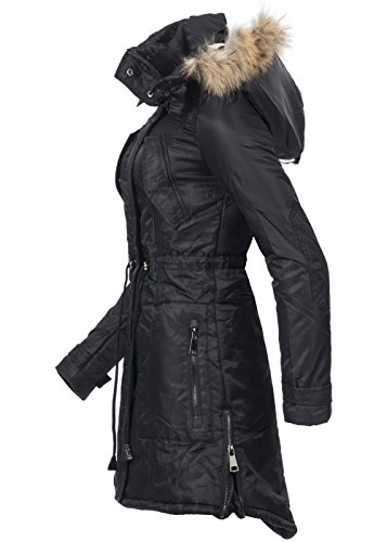 Nero Violet Maniche Fashion Lunghe Cappotto Donna qUUr1wBX