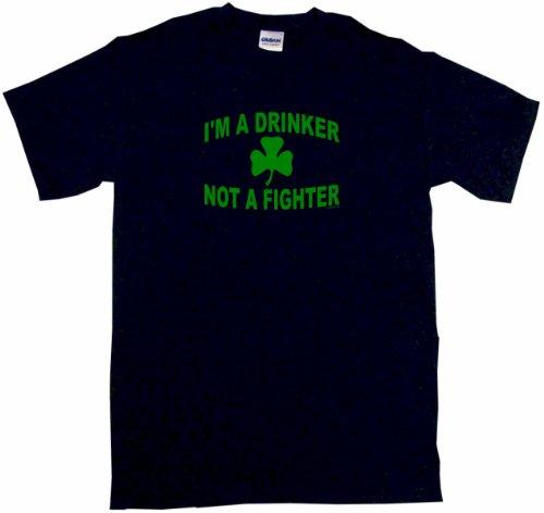 T-shirt Not Fighter Drinker Im - I'm a Drinker Not a Fighter Clover Logo Men's Tee Shirt 2XL-Black