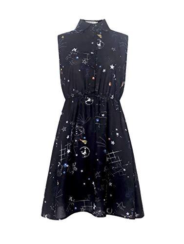 LaVieLente Customized Sleeveless Shirt Sloth Dress Fox Dress Dog Dress Stretchable Waist Design (Black, -