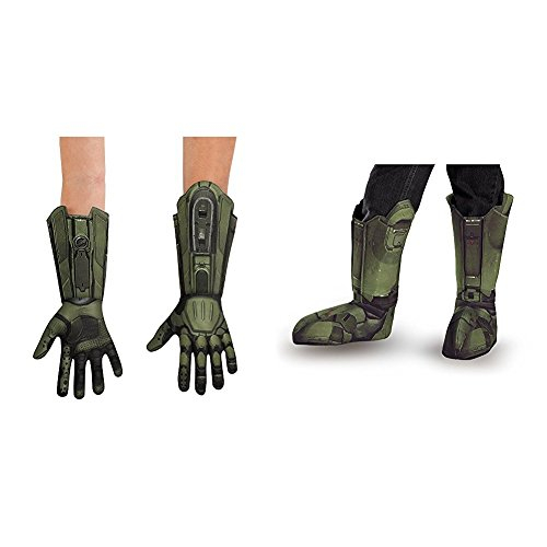 Master Chief Deluxe Child Gloves with Master Chief Child Boot Covers -